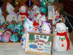 As well as christmas tree ornaments, these snowmen make a great addition to the holidays. Our cat actually was convinced we had bought her a new chew toy!