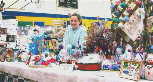 Carlena at the Lansdowne Craft Fair Fundraising for the SPCA. In 2004 over $1500 was raised from sales made during these events.